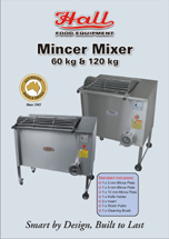 Hall Food 60 and 120 Kg Meat Mincer Mixer