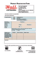 Hall Food Product Registration Form