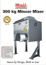 Hall Food 300 Kg Meat Mincer Mixer